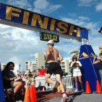 The Ironman Triathlon Finish Line