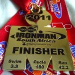 Finish medal for Ironman South Africa