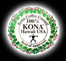 Kona coffee seal of approval
