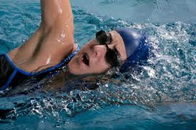Ironman Triathlon DNF-female triathlete swim training in pool